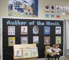 """Author of the Month"" board for author studies I am a little I love with this idea"