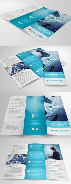 41 best Tri Fold Brochure images on Pinterest   Tri fold brochure     Elegant Multipurpose Trifold Brochure Vol 2   Corporate Brochures