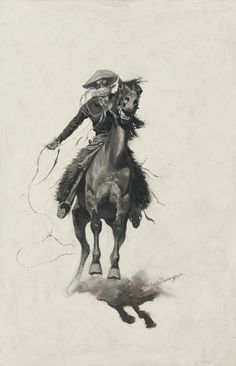 Sid Richardson Museum: The Cow Puncher by Frederic Remington