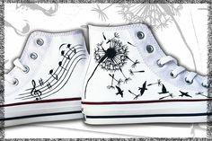 scarpe personalizzate, converse, vans dipinte a mano - Pezzi unici | Converse Hi