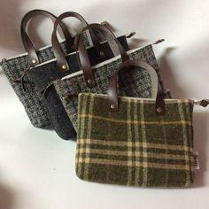 バッグイン ハンドメイド 作り方 ウール トート 型紙 Patchwork Bags, Quilted Bag, Tweed, Japanese Bag, Diy Bags Purses, Tapestry Bag, Art Bag, Craft Bags, Bag Patterns To Sew