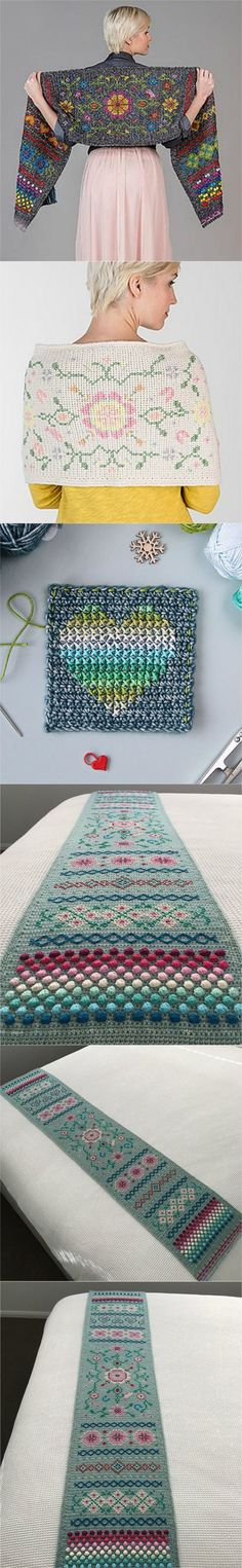 Crochet Hygge Scheepjes Shawl- different color patterns to choose from. These shawls are GORGEOUS beyond words!