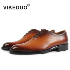 VIKEDUO 2019 New Brand Men Oxford Shoes Genuine Leather Male Shoe Handmade Footwear Wedding Office Formal Patina Zapatos Hombre - Exclusive Men's World Black Leather Shoes, Black Shoes, Cow Leather, Male Fashion Trends, Office Shoes, Shoe Brands, Dress Shoes, Men Dress, Men's Shoes