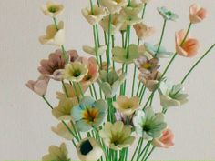 Ceramic wild flowers, 10 teeny tiny flower stems | Bron's Ceramics | madeit.com.au
