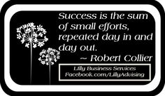 Success is a journey.  LillyAdvising.com