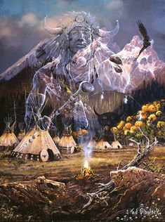 native american animal spirit guides   Spirit of the Flame Native American Jigsaw Puzzle