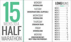 awesome half marathon schedule..totally doing the nashville half next spring