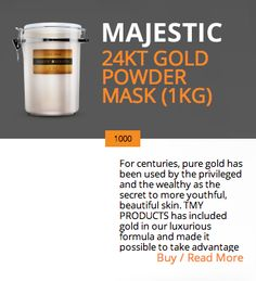 24KT GOLD POWDER MASK (1KG)  http://majestickeratin.com