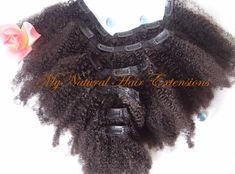 Curly Afro Kinky Clip In Extensions / 100% Human Hair