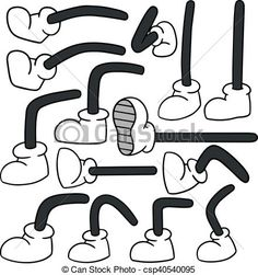 vector set of cartoon leg - Buy this stock vector and explore similar vectors at Adobe Stock Retro Cartoons, Old Cartoons, Vintage Cartoon, Animated Cartoons, Classic Cartoon Characters, Cartoon Art Styles, Cartoon Sketches, Cartoon Legs, Principles Of Animation