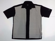 MENS BC ETHIC SMOOTH CUSTOM FIT CASUAL SHORT-SLEEVE SHIRT LARGE #BCETHIC #ButtonFront