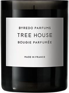 Tree House Candle 240g - Byredo's Tree House candle is a charmingly sophisticated, woodsy fragrance set in a mouth-blown glass vessel. The scent is inspired by architect Takashi Kobayashi's tree house in Biotop's courtyard in Tokyo.