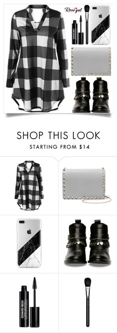 """""""Rosegal"""" by itsybitsy62 ❤ liked on Polyvore featuring Valentino, Edward Bess and MAC Cosmetics"""