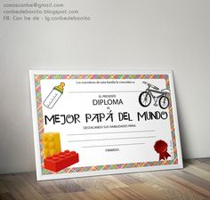 Freebie Diploma Mejor Papá del Mundo