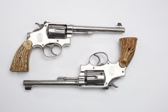Parsons' Smiths - Herb Parsons was very well known as an exhibition shooter for Winchester and excelled with any model of rifle or shotgun. Today, we've elected to showcase his pair of plated Smith & Wesson Revolvers – one in .22 and the other is chambered for .38.
