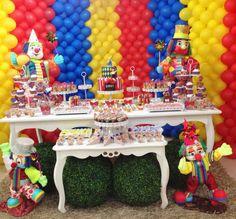 mesa festa tema circo