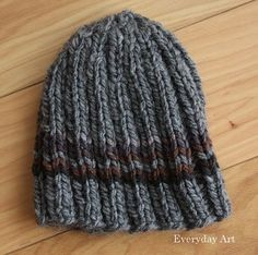 Men's Knit Beanie by Everyday Art. Great simple men's knit hat! toboggan, clothing, knit, darrick