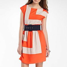 $35 jcpenney colorblock dress