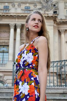 floral dress, floral dress outfit, summer street style, vintage floral dress #floraldress #vintagedress