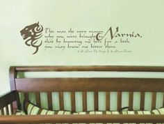 A Narnia theme nursery.for the very distant future. dream-home Room Themes, Nursery Themes, Nursery Ideas, Wall Quotes, I Love Books, Vinyl Wall Decals, Future Baby, Fancy, Baby Room