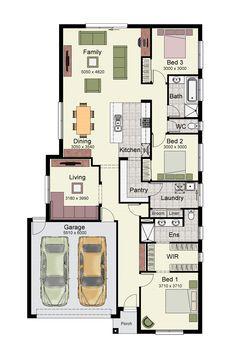 Hotondo - Tarkine floor plan Ground Floor: m² Garage: m² Porch: m² Total: m² Width: m Length: m Home Design Floor Plans, Home Room Design, House Floor Plans, House Design, 3 Bedroom Plan, Hotondo Homes, Detail Architecture, House Construction Plan, House Map