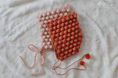 TUTO crochet : béguin à pompons (+diagramme)