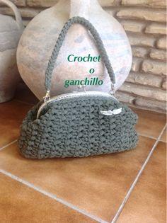 Crochet o ganchillo: BOLSO FETTUCCIA GREEN