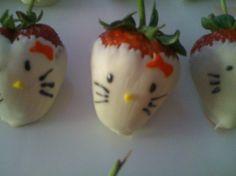 ツ Invite us 2 your boards ══WE POST RAD PINS!══► Hello Kitty white chocolate strawberry