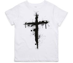 El Cheapo Cross (Black) Youth White T-Shirt