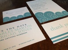 Nautical and Beach Wedding Invitation Suite by Fira Printables