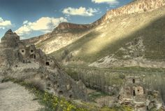 Soganli Valley in the Cappadocia region of Turkey. Home to cave churches and an abandoned village