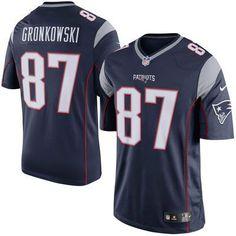 1937aa43a1fee Men s New England Patriots Rob Gronkowski Nike Navy Limited Jersey Rob  Gronkowski