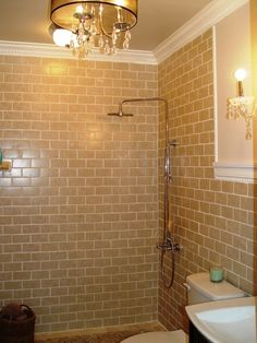 Love This Tan Subway Tile Maybe For Our Master Bathroom