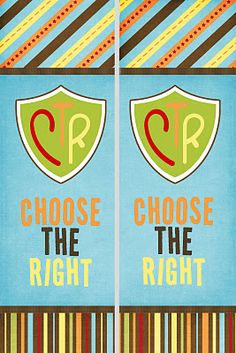 "Free printable Bookmarks 2012 Primary Theme, ""Choose the Right."""