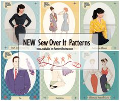 New Sew Over It Patterns available on PatternReview.com