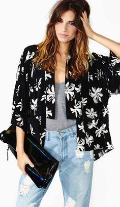 Nasty Gal Posy Kimono Jacket