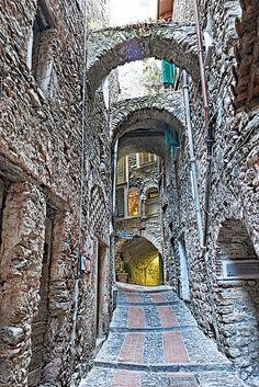 Italy, Dolceaqua, province of Imperia , Liguria  www.varaldocosmetica.it #essenzadiriviera.com