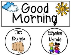 Morning Greeting Signs - Free