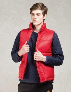 Manastash Red Blanket Lining Down Vest