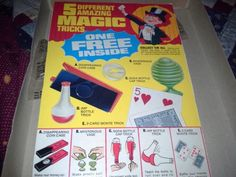 Vintage-collectable-post-cereal-premiums-magic-tricks