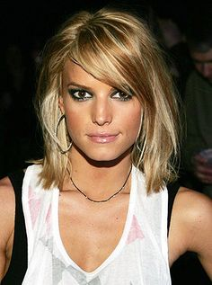 I think this length is a happy medium for a wife that wants short hair but whos hubby likes long hair.