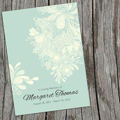 Beautiful Chrysanthemum Memory Cards Memorial Funeral by #CherishedPrints on #etsy