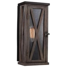 Buy the Feiss Dark Weathered Oak / Oil Rubbed Bronze Direct. Shop for the Feiss Dark Weathered Oak / Oil Rubbed Bronze Lumiere 1 Light Outdoor Wall Sconce and save.