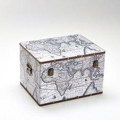 Malle impression carte ancienne, Semra La Redoute Interieurs - Malle, coffre de…