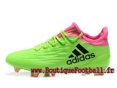 huge selection of 67ee4 53c58 Adidas Homme Football Chaussues X 16.1 Terrain souple Vert Rose adidas pas  cher