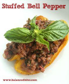 Easy Recipe: Italian Style Stuffed Peppers   Balanced Bites   Holistic & Paleo Nutrition Education