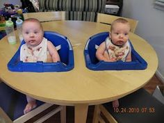 Twin high chair DIY - should have done this when they were little