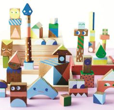 Australian designer Beci Orpin shows you how to make colorful wooden blocks — perfect as toys, small artworks, or desktop decor.