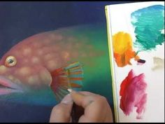 Time Lapse painting a colorful fish