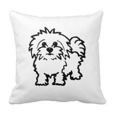 Maltese Dog Maltese Dog Cushion - White (Large image) - Shop Maltese Dog cushion - White created by Lellywells. Personalize it with photos Shih Tzu, Dog Throw, Dog Cushions, White Throw Pillows, Maltese Dogs, Dog Rules, Dog Coats, Service Dogs, Little Dogs